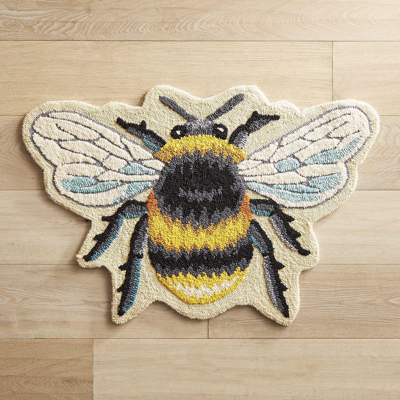 Bee Rug With Images Bee Decor Bee Bee Theme