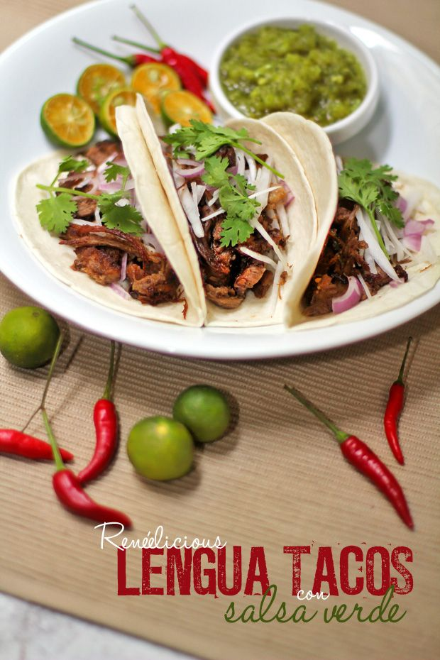 Lengua beef tongue tacos con salsa verde sips and eats foods forumfinder Image collections