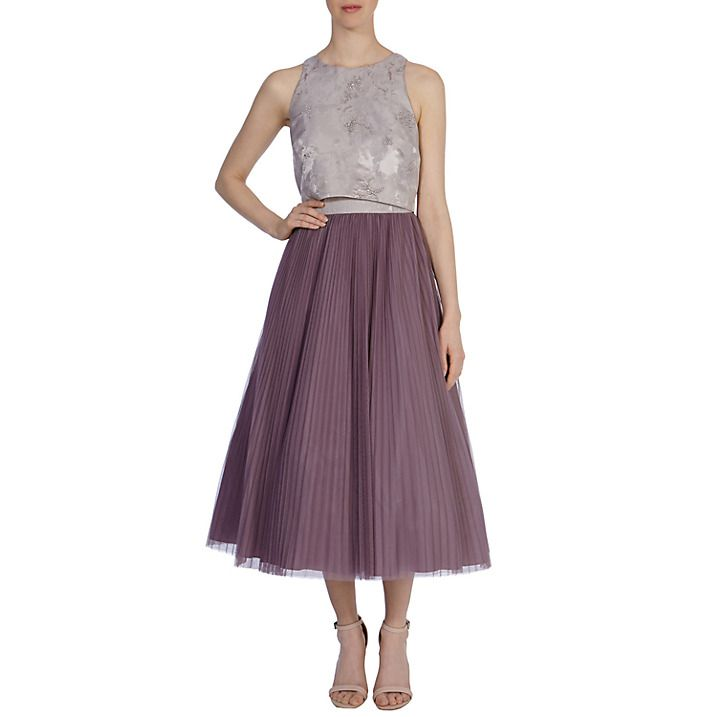 Buy Coast Havren Dress, Mink, 6 Online at johnlewis.com | Wedding ...