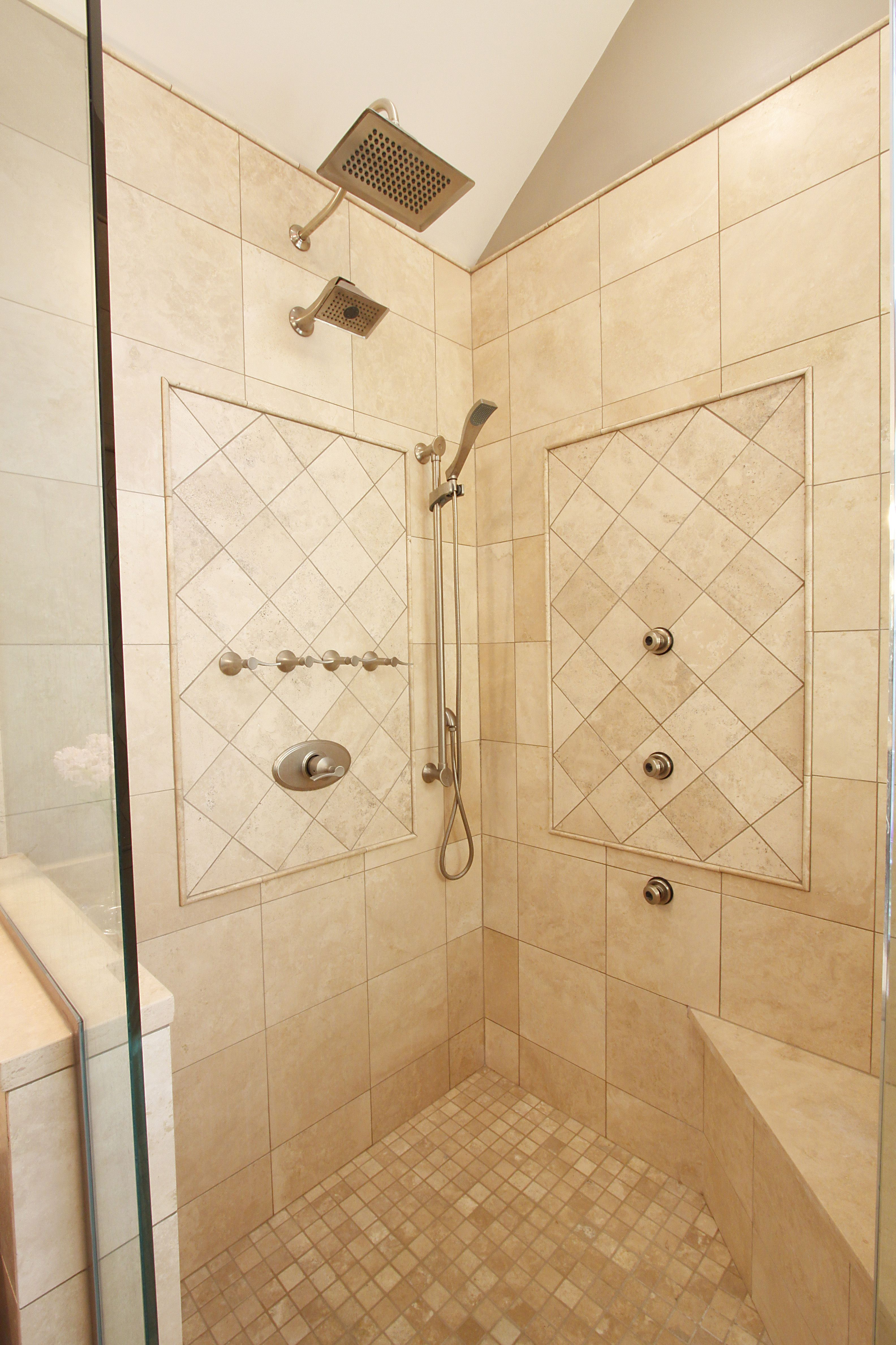 large modern standing shower bathrooms 12467