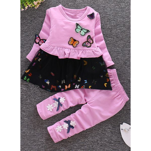 2ce889a52 Girls  Cute Animal Daily Long Sleeve Clothing Sets (30145348550 ...