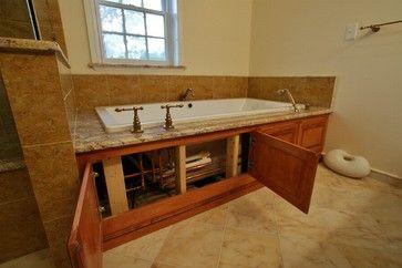 Whirlpool tub surround ideas tub access panel design for Bathroom access panel ideas
