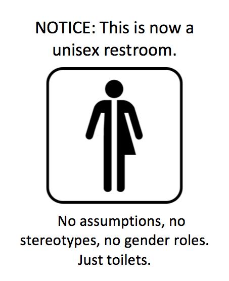 Just Bathroom Signs neutral gender - google search | (lgbtqia pride ya'll) they call