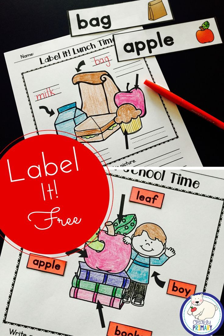 Back to School activity for kindergarten and first grade. Free ...