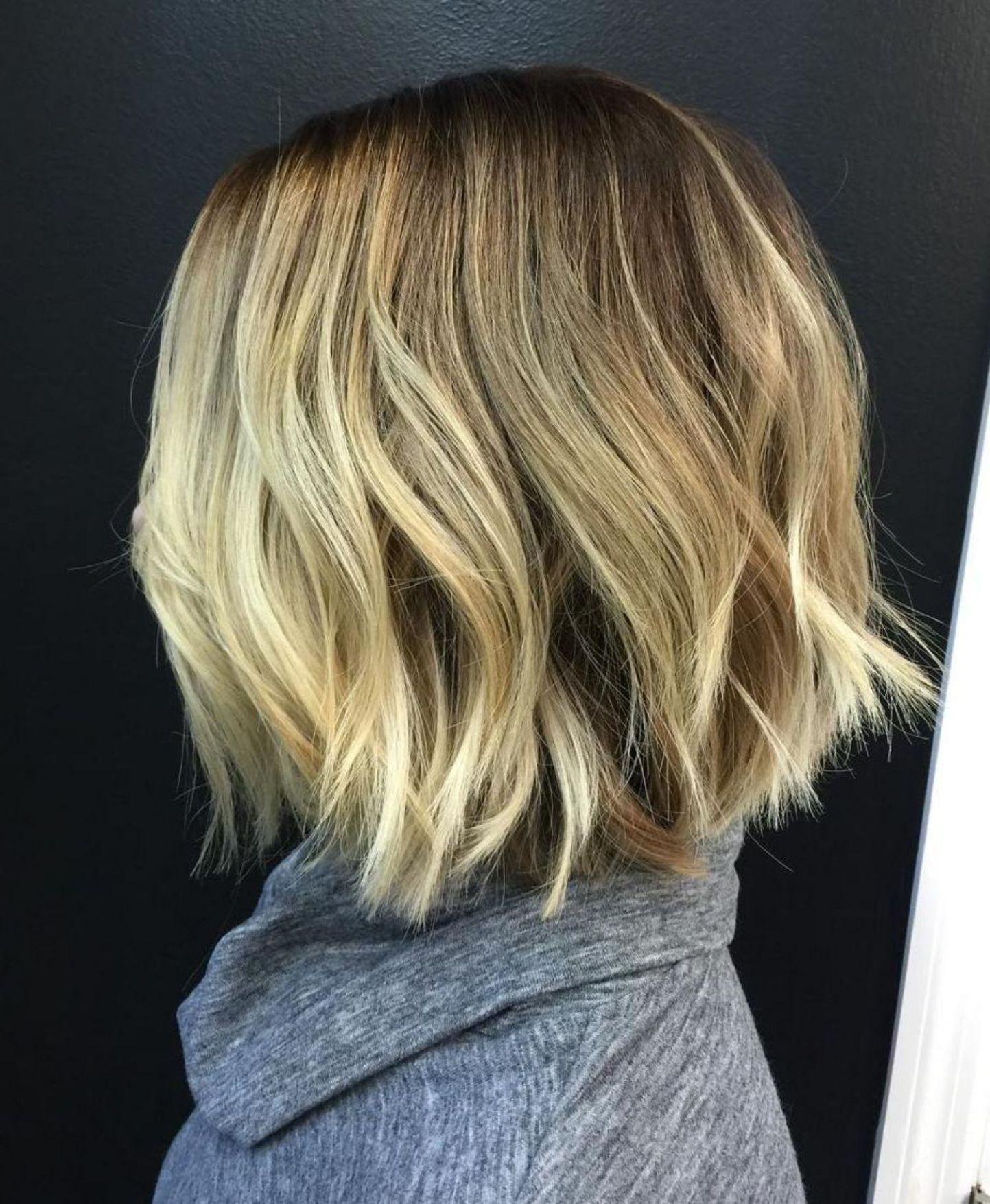 medium length chopped blonde bob  choppy bob hairstyles