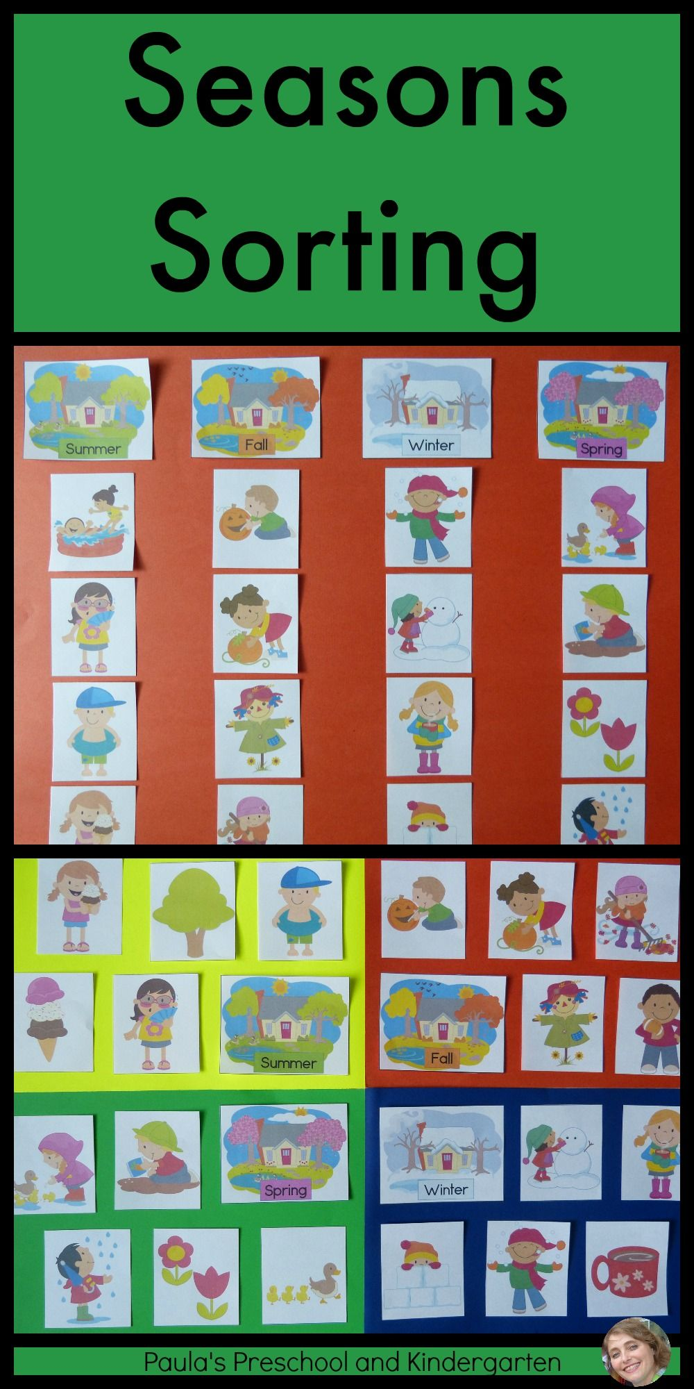 Four Seasons Picture Sorting Posters And Worksheet Seasons Kindergarten Seasons Preschool Kindergarten [ 2000 x 1000 Pixel ]