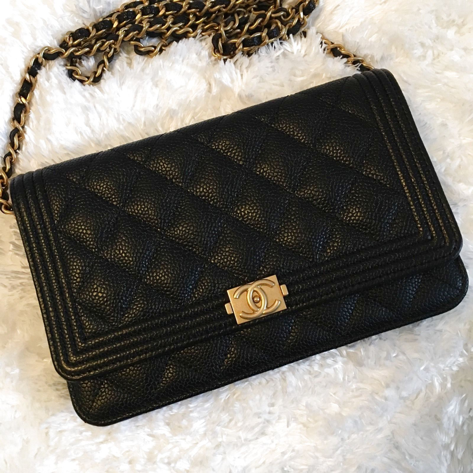 a2534046f3ba Chanel Boy Caviar WOC Wallet On Chain 17C $2700.0 | Fashion | Chanel ...