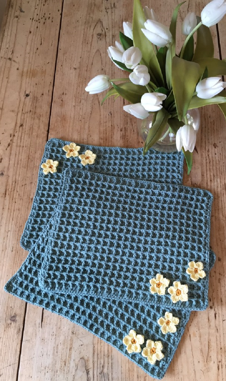 Crochet Club Primrose Placemats Free Crochet Pattern Rsp Tutorial