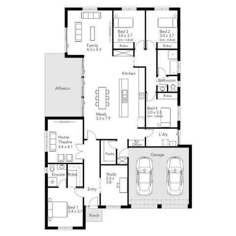 Myrtle alfresco statesman homes for a small block less than