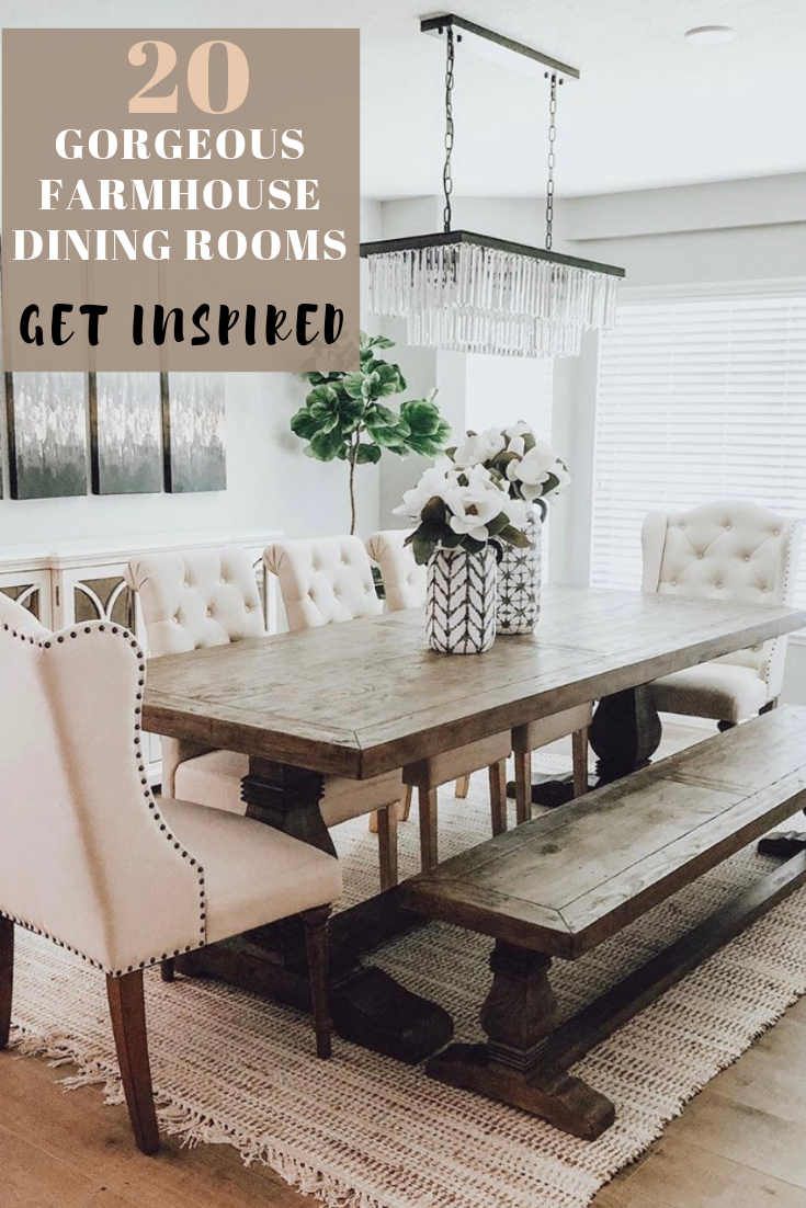 Get Inspired By These Farmhouse Dining Room Ideas Including Country Style Formal Di In 2020 Modern Farmhouse Dining Room Farmhouse Dining Room Dining Room Inspiration