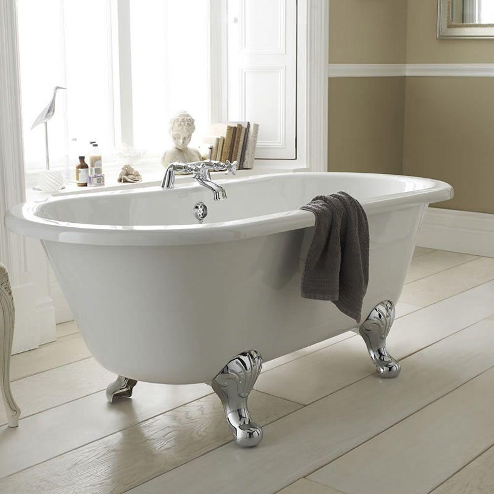 Milano 1500mm Double-Ended Freestanding Bath | Freestanding bath ...