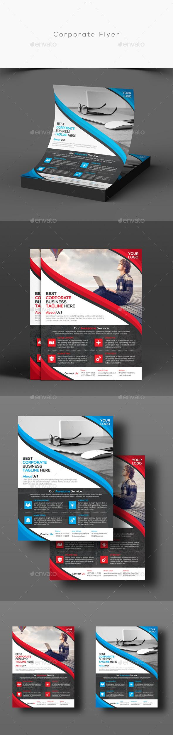 Corporate Flyer   folletos   Pinterest   Tríptico, Folletos y Diseño ...