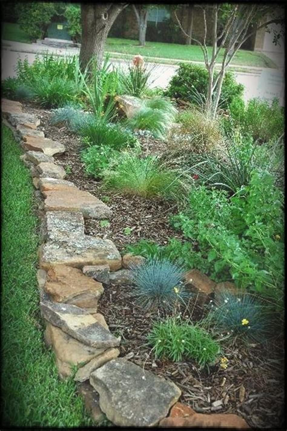 42 Best Front Yard Landscaping Ideas On A Budget Low Maintenance 30 Rock Garden Landscaping Landscape Edging Landscaping With Rocks