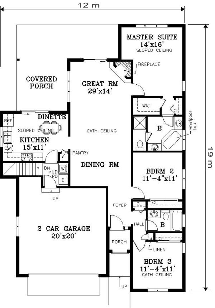 16 Denah Rumah Minimalis 2 Kamar Tidur Desain Rumah Modern