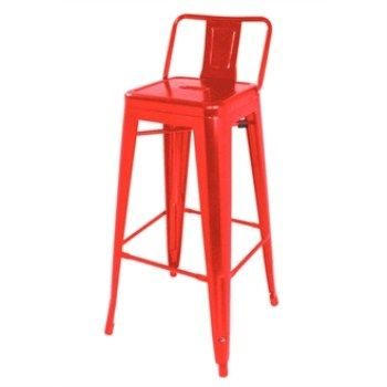 Helio Steel Stool with Back - Red Set of 4  sc 1 st  Pinterest & Helio Steel Stool with Back - Red Set of 4 | stainless steel ... islam-shia.org