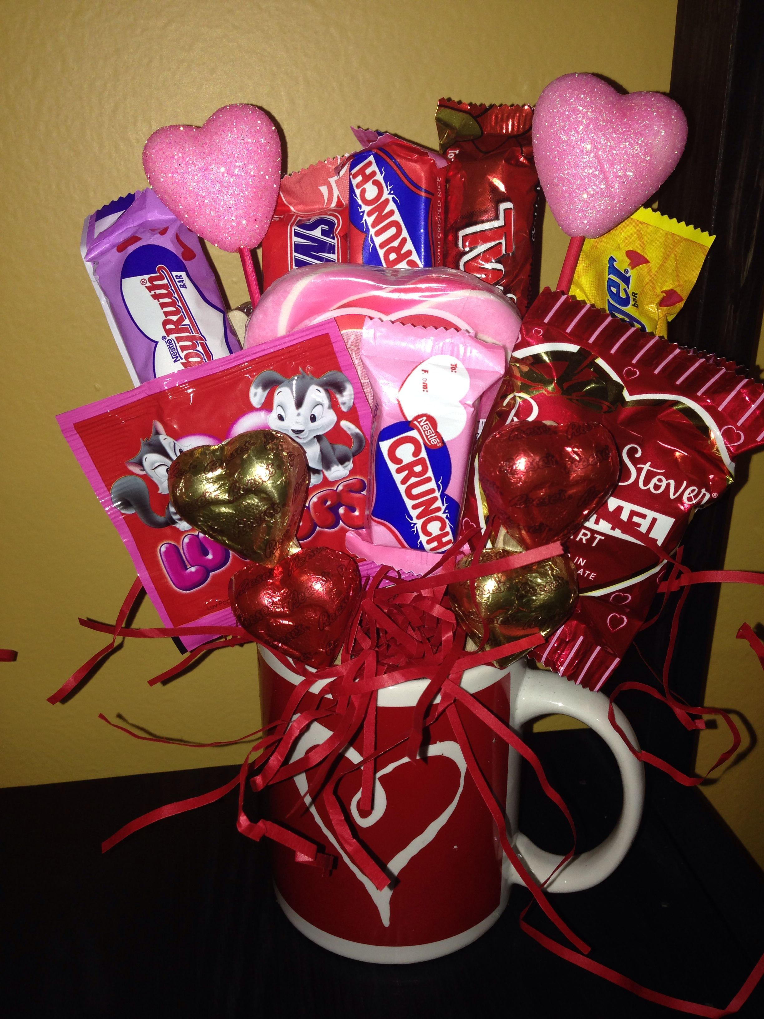 Valentines Mug Candy Bouquet Candy Bouquets Candy