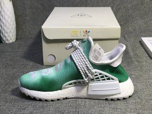 cad1576d0a183 Mens Womens Pharrell x adidas NMD Hu China Exclusive Pack Youth Green  Running Shoes