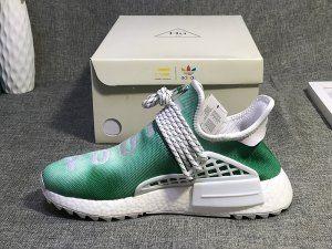 Mens Womens Pharrell x adidas NMD Hu China Exclusive Pack Youth Green  Running Shoes ece3e486f