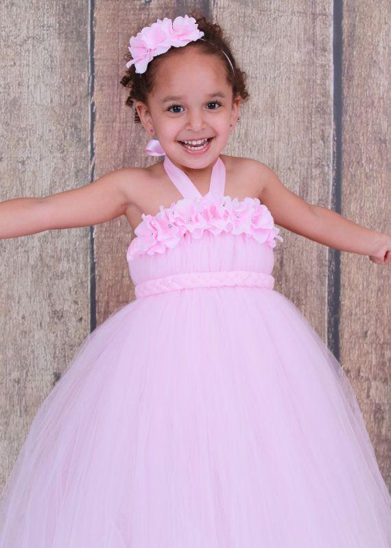 Custom made to order flower girl tutu dress light pink bubble by custom made to order flower girl tutu dress light pink bubble by cutiepatootiedesignz mightylinksfo Choice Image