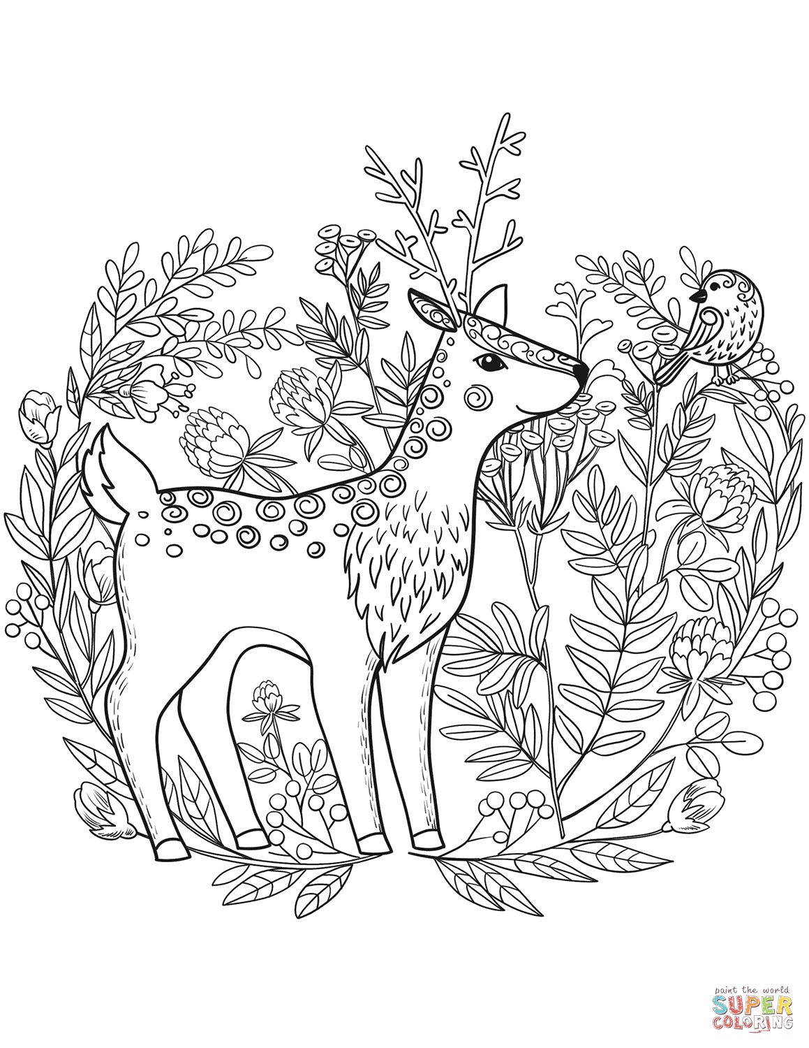 Fawn Coloring Page Free Printable Coloring Pages Deer Coloring Pages Cute Coloring Pages Coloring Pages