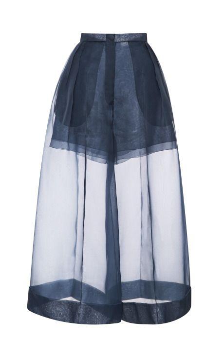 Organza Pant With Side Pleats by DELPOZO - Moda Operandi