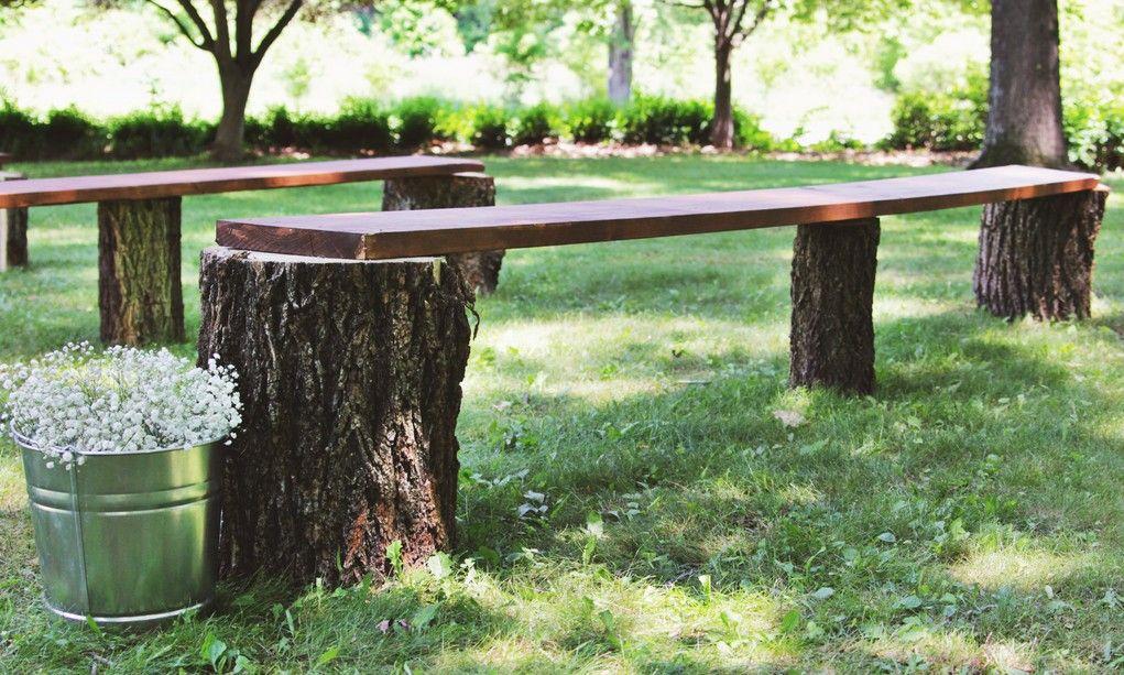 Delightful Tree Stump Bench Ideas Part - 7: Diy-tree-stump-benches.jpg (1021×613)