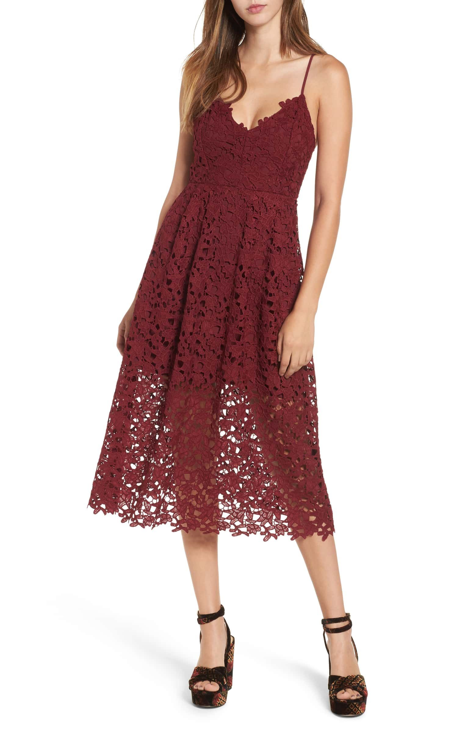 Astr The Label Lace Midi Dress Nordstrom Lace Midi Dress Perfect Fall Dress Lace Dress