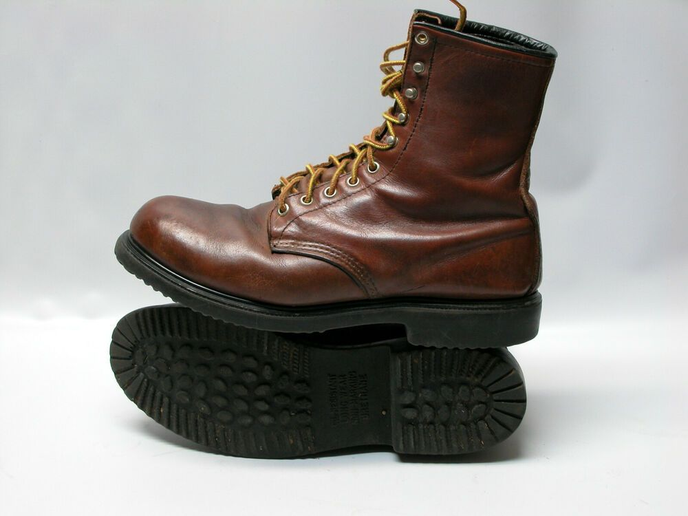 Red Wing Brown Leather Steel Toe Lace