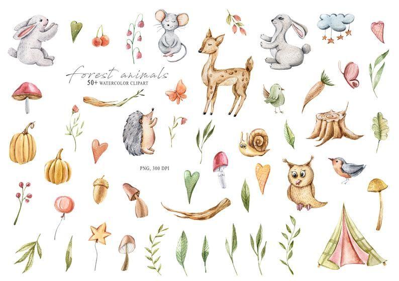 15+ Nursery Forest Animals Clipart
