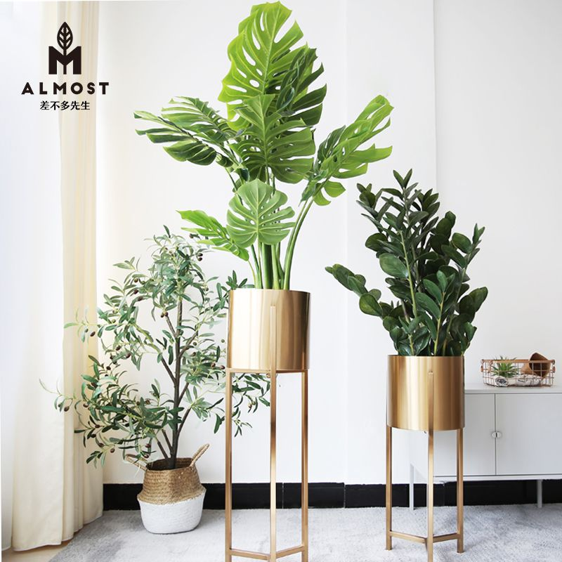 Usd 392 32 Nordic Simple Light Luxury High End Living Room Decoration Ornaments Green Flower Pots Flowe Flower Room Decor Green Flower Pots Living Room Decor Decorative pots for living room