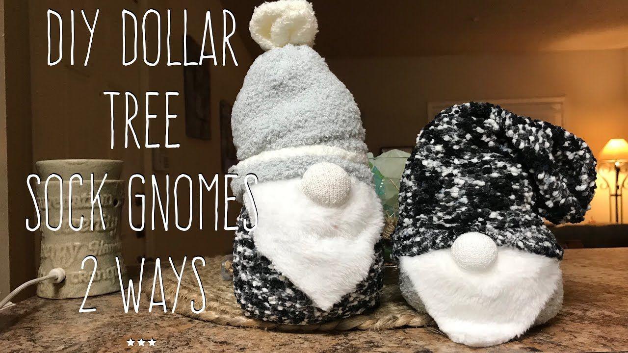 DIY Dollar Tree Sock Gnome 2 Ways YouTube Dollar tree