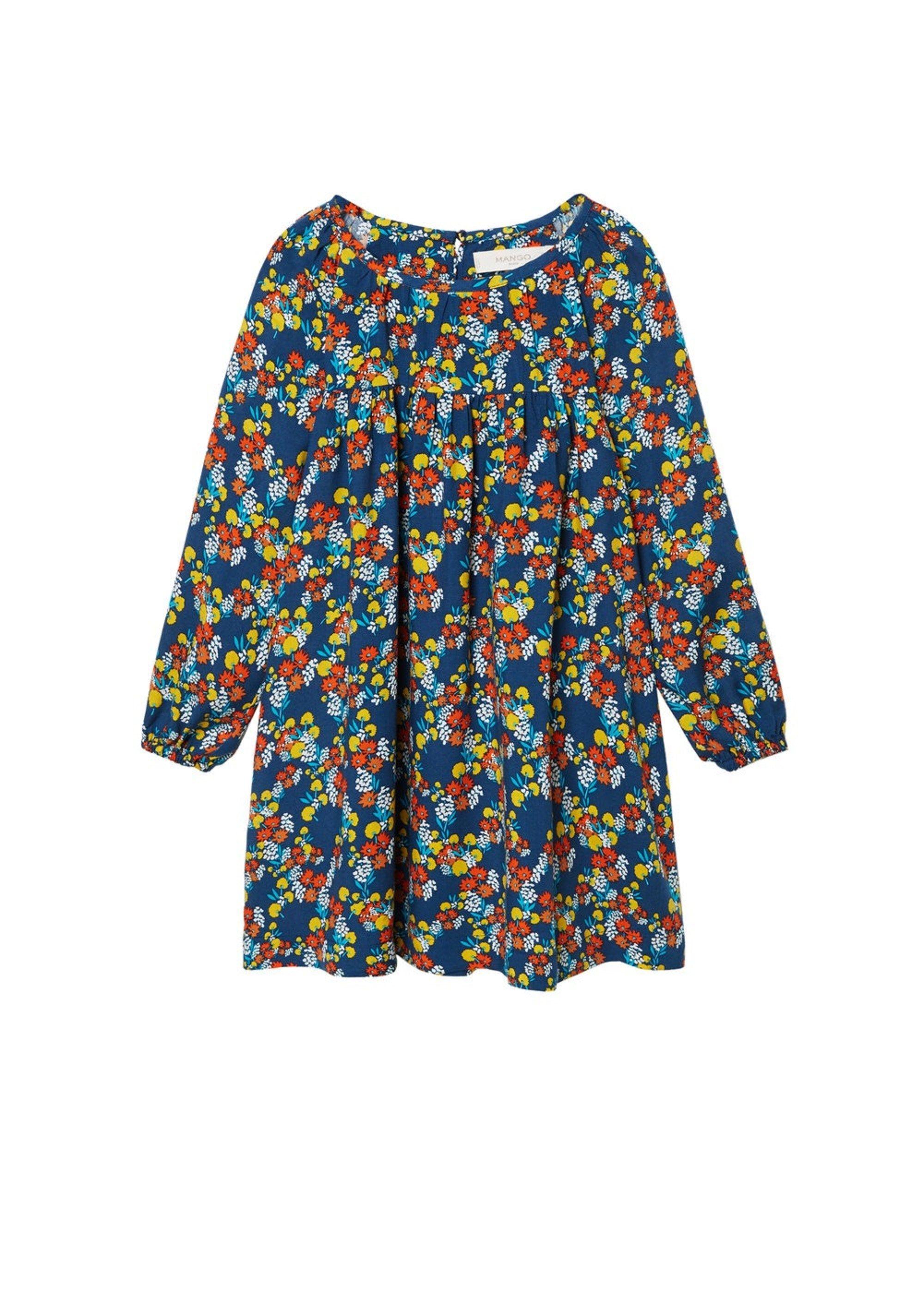 46e34e9325fa2 MANGO KinderMädchen Kleid Mont blau