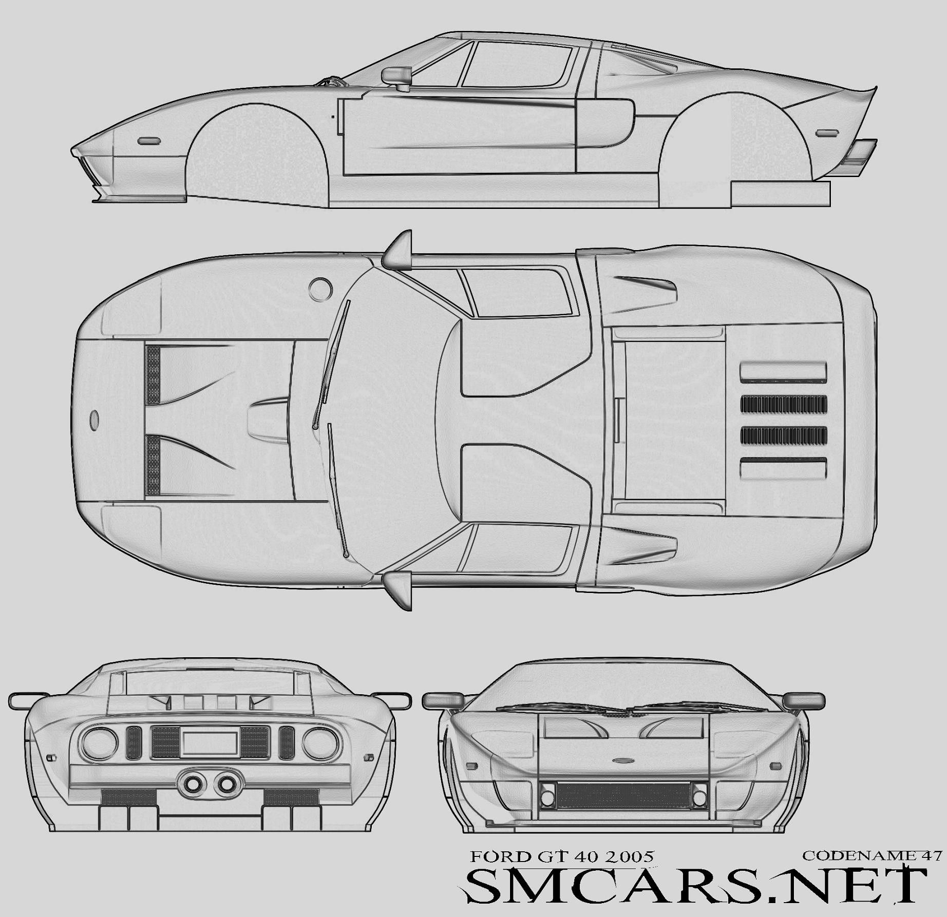 Ford Gt40 2005 Ford Gt Ford Gt 2005 Cars Coloring Pages