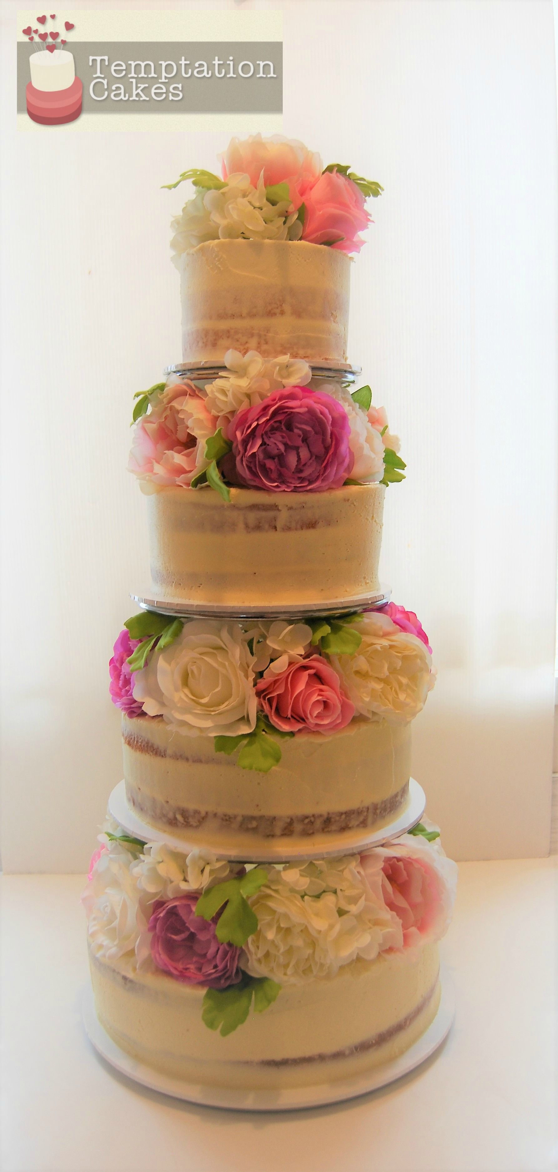 Semi Naked Cake Auckland 695 Includes Rental Of Our Silk Flowers