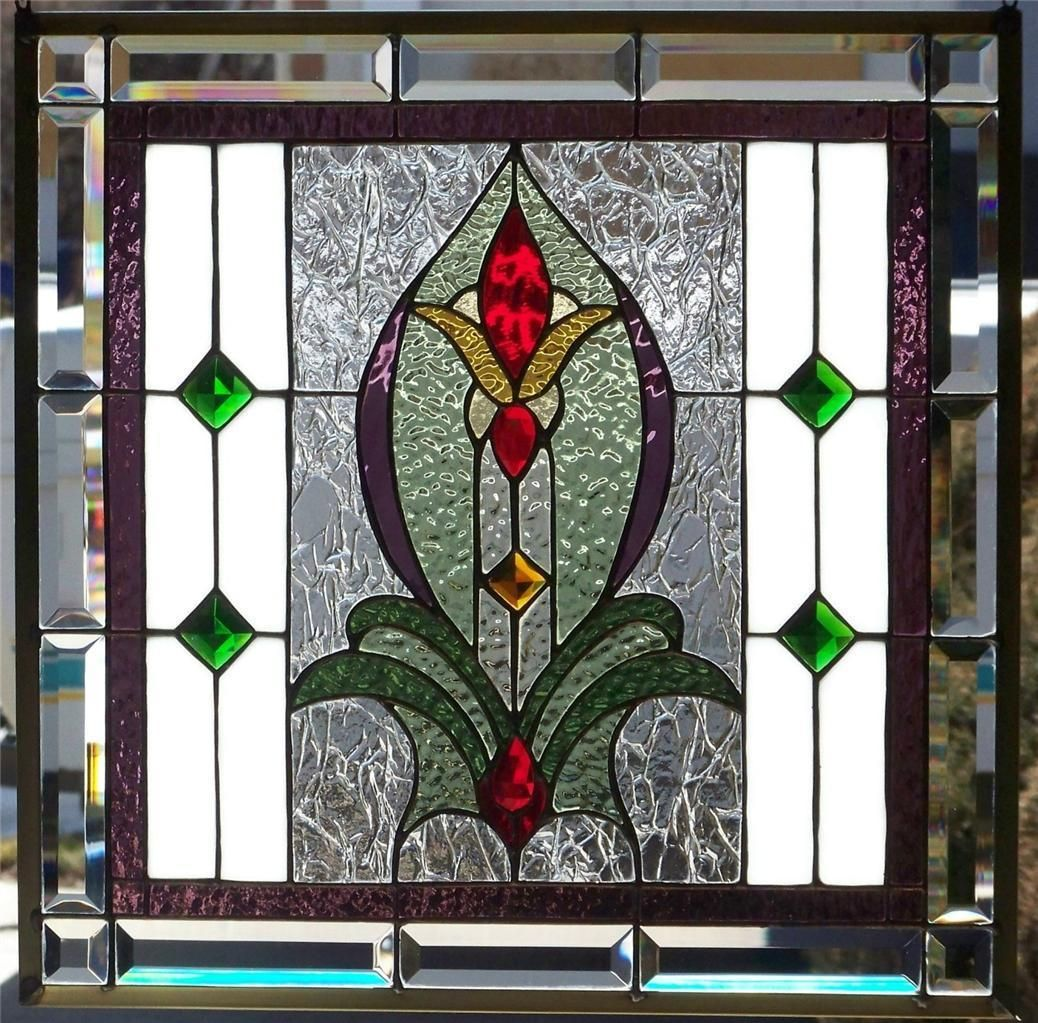 Stained glass window hanging needing a piece for an opening between dining room and living room love this