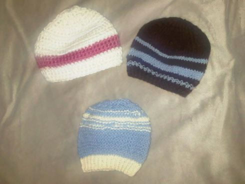 Baby hats my mother knitted