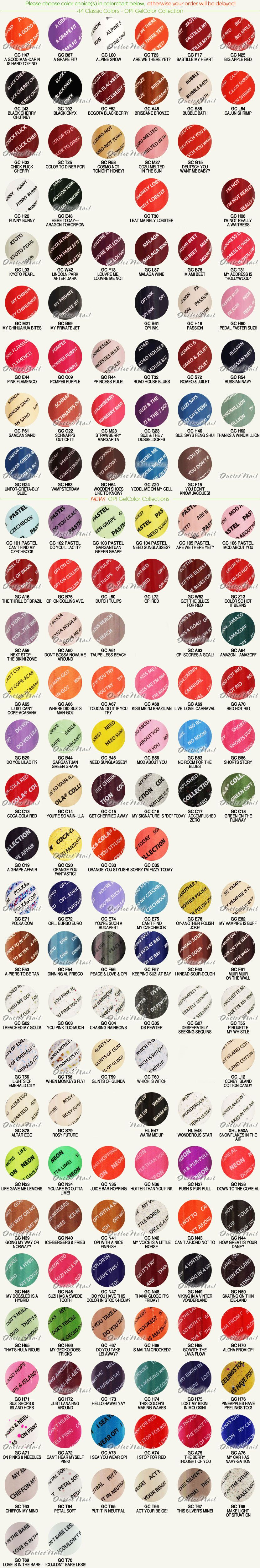 outletnail items - Get great deals on OPI GelColor Color Chart items ...
