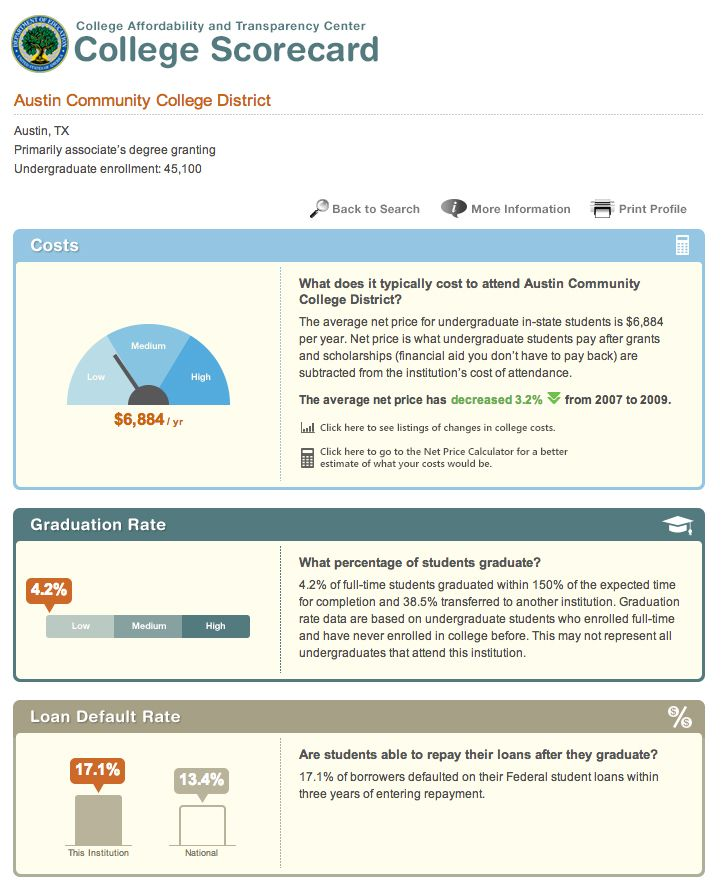 Obama Administration Launches College Scorecard \u201c\u2026 parents, students - compare schools college
