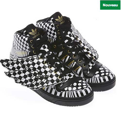 chaussure adidas ailes noir