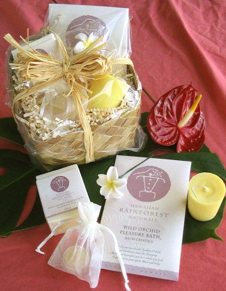 Gardenia Wild Orchid Pleasure Bath Gift Basket