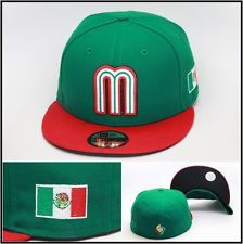 New Era 59Fifty Mexico 2013 World Classic Baseball WBC Fitted Hat Mexican  Flag 0b8afebbd61