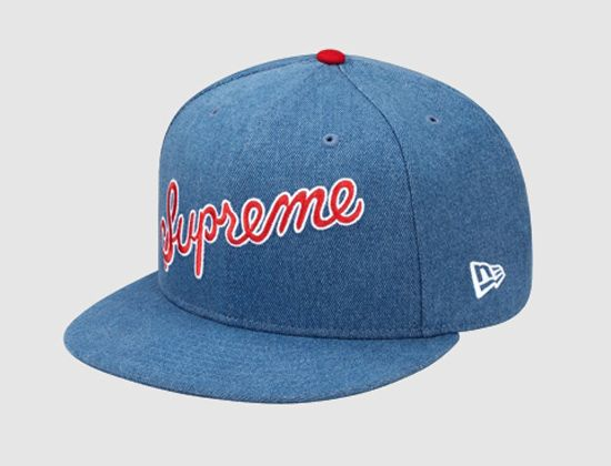 SUPREME x NEW ERA   1 Script  59Fifty Fitted Cap  edfb95883c8