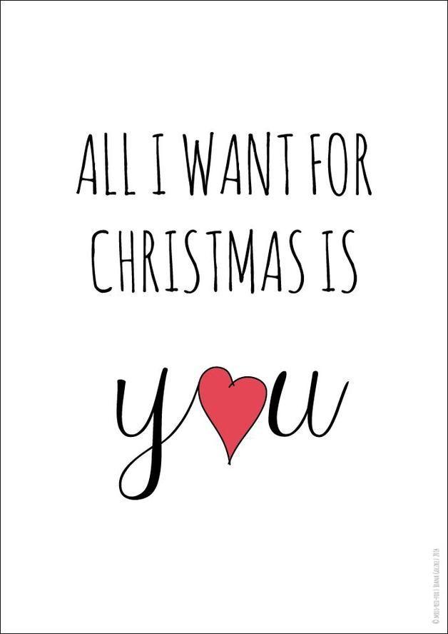 Poster Druck All I Want For Christmas Din A4 Weihnachten Spruch Zitate Weihnachten Weihnachtsliebe