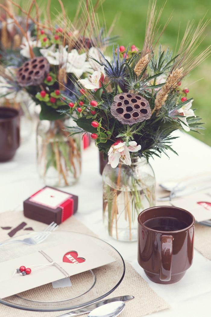 Un centro de mesa invernal
