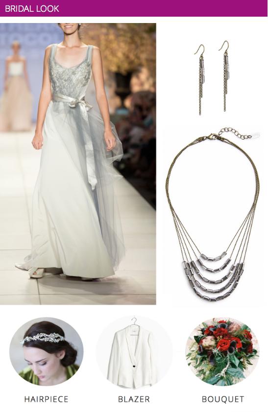 Vineyard Wedding Inspiration | Bride Style - Pair an embellished dress with sleek accessories