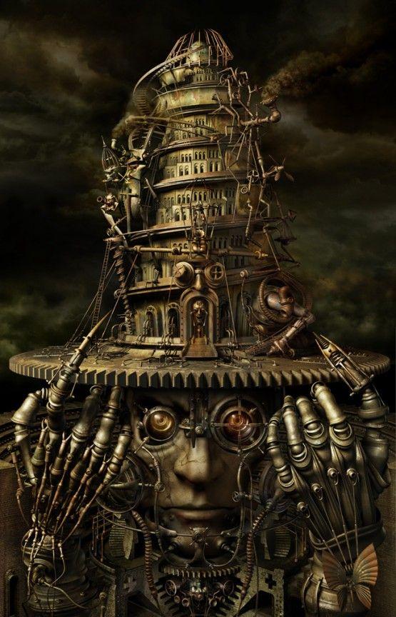 Cyberpunk Inspired Artwork by Kazuhiko Nakamur   Hunie