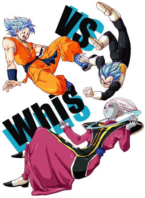 Goku And Vegeta Vs Whis Dragon Ball Art Dragon Ball Gt Dragon Ball Artwork