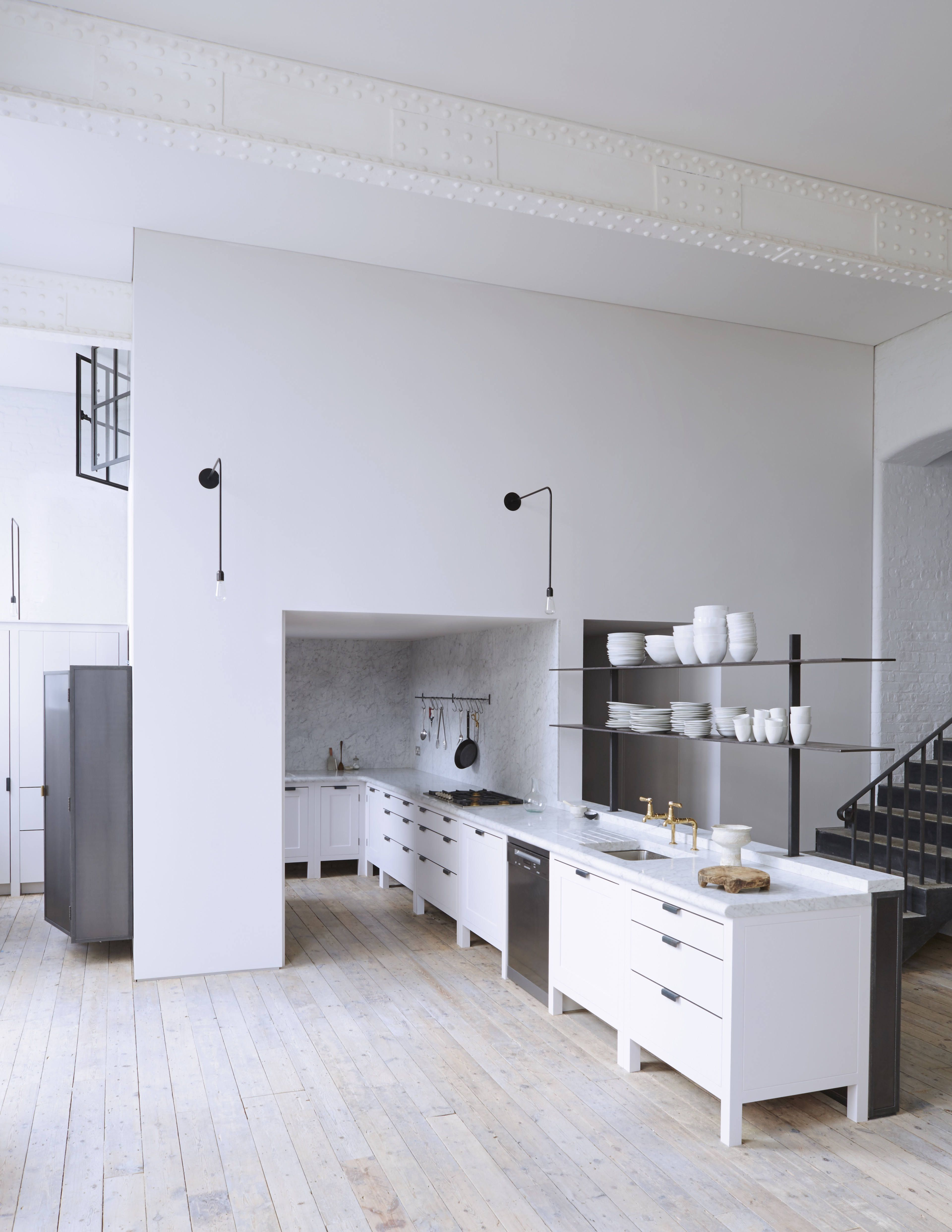 Plain English contemporary dream kitchen in a converted London schoolhouse