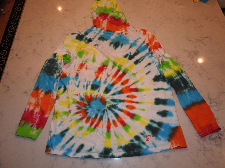 Gildan unisex light weight hippy swirl tie dye hoodie by