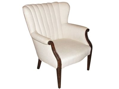 Vintage channel back chair
